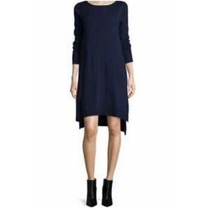 Eileen Fisher Ballet Blue Merino Jersey Dress Med